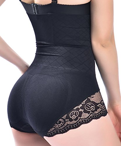 Women High Waist Tummy Control Underwear Body Shaper Panties Shapewear Thong Slimming Butt Tifter Girdle Waisted Briefs (Black, XL/XXL) High Waist Pantie Girdle