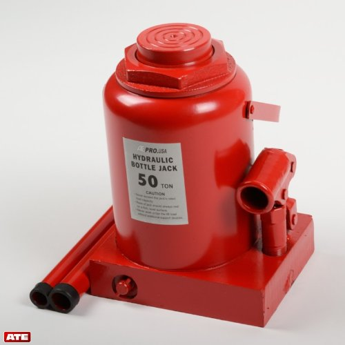 ATE Pro. USA 80050 50 Ton Hydraulic Bottle Jack, 9.06'' Height, 11.02'' Width, 7.68'' Length by ATE Pro. USA