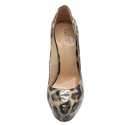 Calaier Chaussures Chaitle Glisser Femme 15CM Aiguille Multicolore Sur Escarpins qwr0qF5