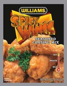WILLIAMS SSNNG SPICY WINGS, 5 OZ (Spicy Chicken Wings)