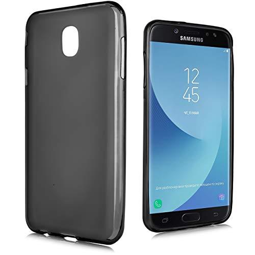 for Samsung Galaxy J3 Star 2018, Orbit, Achieve, J3V 3rd Gen, Express Prime 3, Amp Prime 3 (J337) Slim Protective TPU Gel Flex Frost Case Air Cushion Drop Skin with Anti-Shock Technology (Black)