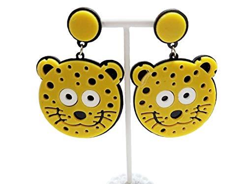 ASKANA Fashion Women`s Acrylic Cute Tiger Head Stud Earrings ()