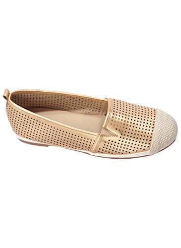 Comfort-well Mujeres Adult Elliott Slip-on Casual Gold Metallic