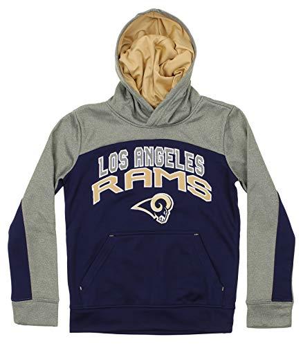 (Outerstuff NFL Youth Boys (8-20) Ellipse Pullover Sweatshirt Hoodie, Los Angeles Rams Medium (10-12))