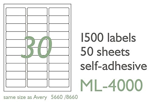 Amazon Maco Laserink Jet Matte Clear Address Labels 1 X 2 5