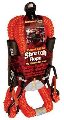 Cordzilla Secure Line Stretch Rope Bungee 8 Mm 400 Lbs. Orange
