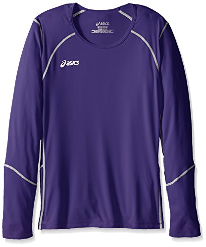 ASICS Unisex-Child Jr. Volleycross Quick-Dry Long Sleeve Top, Gold/Steel Grey, ()