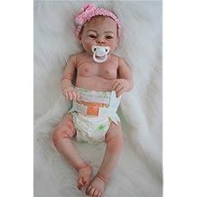 Wamdoll 20inch Rare Alive Silicone Vinyl Full Body Waterproof Newborn Baby Girl Dolls