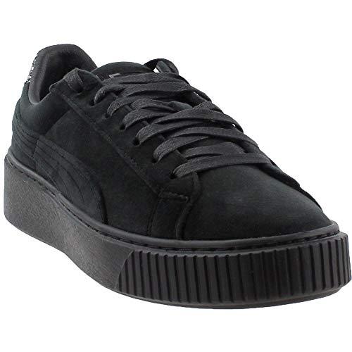 PUMA Womens Platform Velvet Crushed Gem Casual Shoes Black 8.5