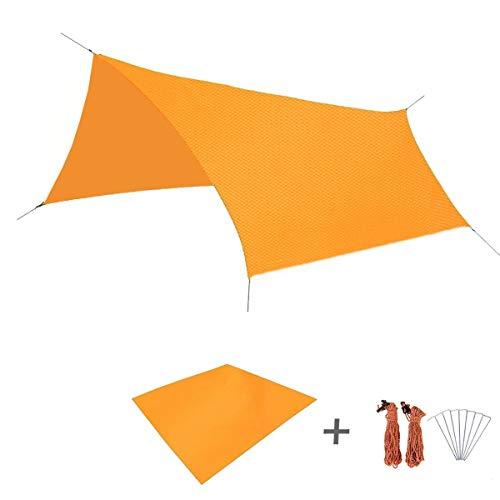 誓約風邪をひく避けられないTriwonder タープ グランドシート 防水軽量 天幕 キャンプ マット テントシート レジャーシート 収納袋付き