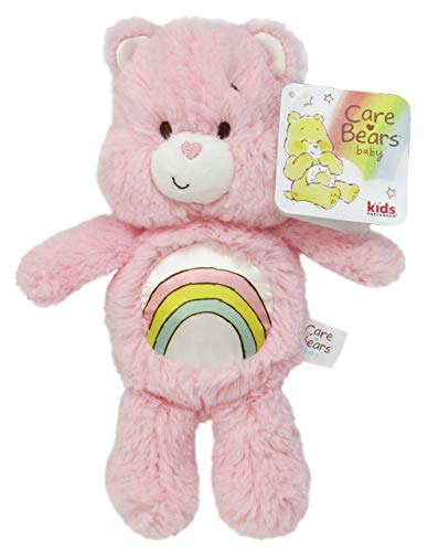Care Bears Cheer Bear Bean Bag Rattle - Stuffed Animal Plush Toy - Pink