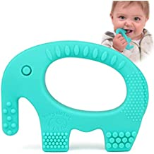 Baby Teething Toys - BPA Free Silicone - Easy To Hold, Soft, Bendable, Highly Effective Elephant Teether, Best for Freezer, Cool Girl Or Boy Infant Newborn Toddler 3 5 6 7 8 12 Months 1 Year Old Gifts