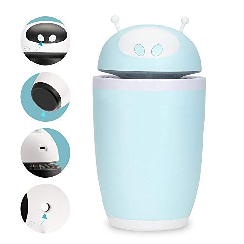 Leegoal Mini Humidifier USB Ultra-Quiet Diffuser with Colorful Gradient Lights Future Robot Modeling Cool Mist Humidifier for Car Office Home Study Yoga Spa, The Best Choice