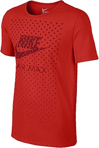 Nike Futura Swoosh Logo Air Max Dot Tone T-Shirt (Red, Medium)