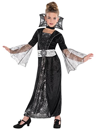 Spider Countess Child Halloween Costume (Suit Yourself Dark Countess Costume for Girls, Size Extra-Large, Includes a Black and Silver Dress, a Choker, and a)