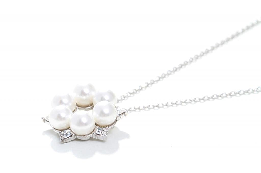 Digabi Womens Elegant Snowflake Jewelry Sets with Little Pearl Platinum /& Necklace