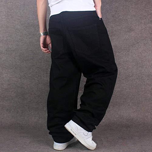 Único Hombres Los Pantalones Popular Dril Del Negro De Pantalone Primavera Suave Baile Algodón La Flojos Vaqueros qxwTTaUY