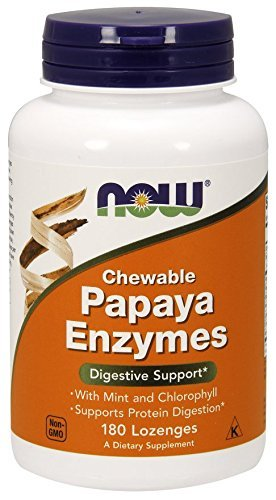 Now Foods - PAPAYA ENZYMES CHEWABLE - 180 tabs masticables