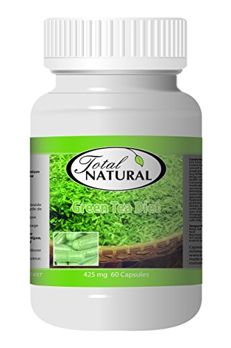 Green Tea Diet 425mg 60c - [12 bottles] Diet And Energy Formulas by Total Natural