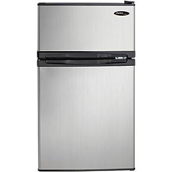 Image of Danby DCR031B1BSLDD 3.1 cu. ft. 2 Door Compact Refrigerator, Steel Home and Kitchen