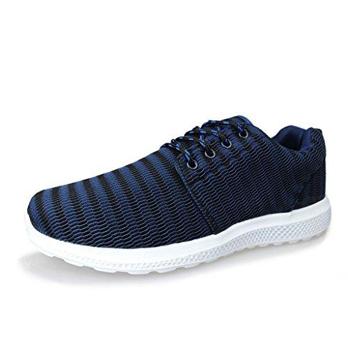 Hawkwell Herren leichte Bequeme Fashion Sneaker Marine-1