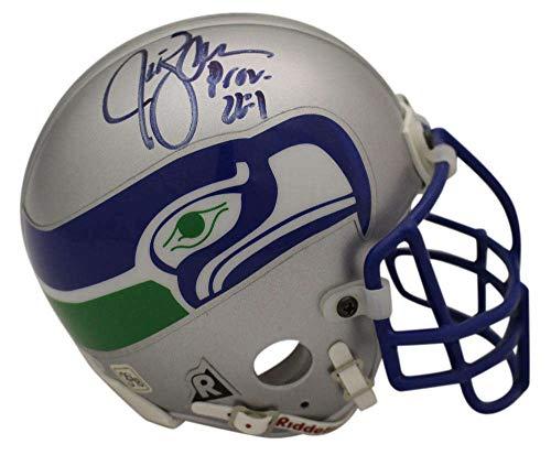 Jim Zorn Autographed/Signed Seattle Seahawks Authentic TB Mini Helmet BAS ()