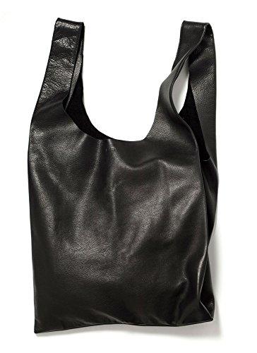 BAGGU Leather Bag - Black by BAGGU