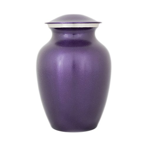 OneWorld Memorials Purple Bronze Bronze Pet Urn - Small - Holds Up To 40 Cubic Inches of Ashes - Violet Purple Pet Cremation Urn for Ashes - Engraving Sold Separately