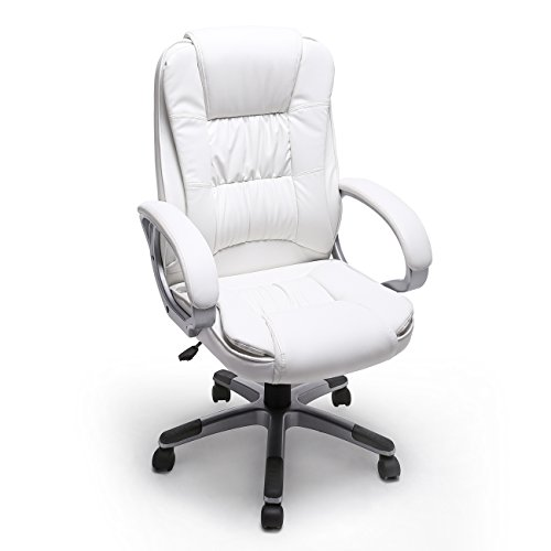 Belleze Executive Manager High-Back Computer Ergonomic Office Chair (White)