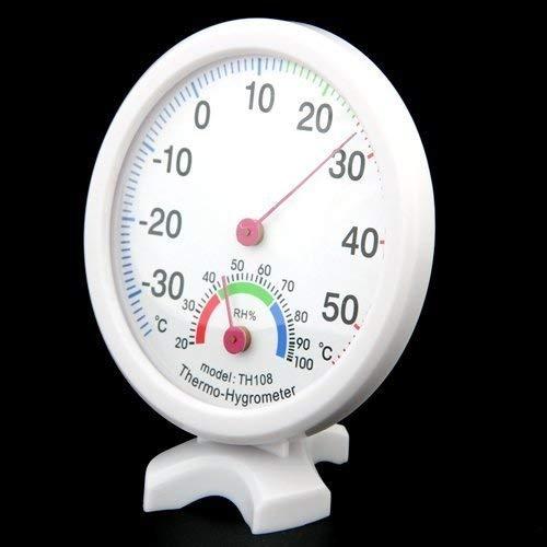 Popluxy Temperatura Humedad Medidor Interior Exterior Higr/ómetro Term/ómetro Monitor anal/ógico