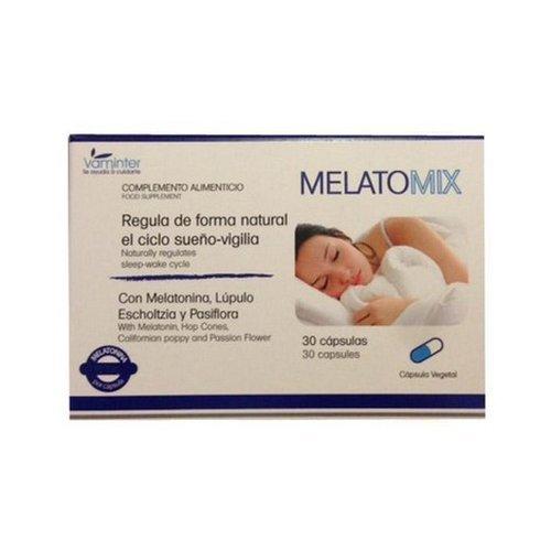 Melatomix Melatonina (+Lupulo+Pasiflora+Escholtzia) 30 cápsulas de Vaminter: Amazon.es: Salud y cuidado personal