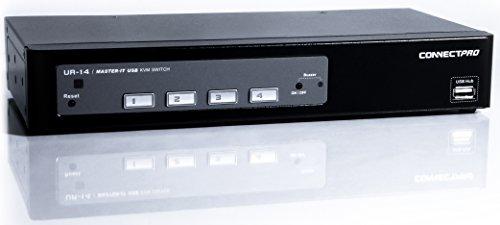 ConnectPRO 4-Port USB/VGA KVM w/Full-Time DDC/EDID UR-14 by ConnectPRO