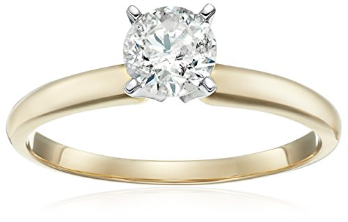 14k Gold Round Solitaire Diamond Engagement Ring (1/2 carat, H I Color, I2 I3 Clarity)