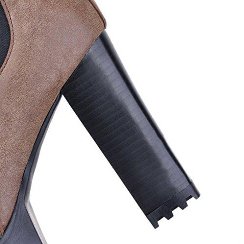 Spessi Spessi Spessi Inverno Stivaletti Stati Europa e Moda Autunno Brown i i i i Uniti Tac con Stivali e 8wCqc5