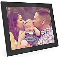 Digital Picture Frame, 8 inch Electronic Photo Frame Slideshow with 1024x768 Hi-Res LED Screen, Support Picture/Music/ Video/Calendar/ Clock,16GB Memory Card Included (Black)