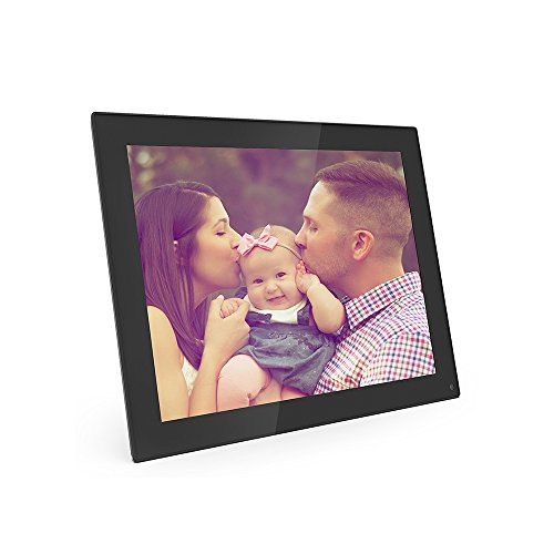 Digital Picture Frame, 8 inch Electronic Photo Frame Slideshow with 1024x768 Hi-Res LED Screen, Support Picture/Music/ Video/Calendar/ Clock,16GB Memory Card Included (Black) by OfficeWinner
