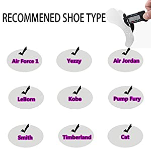 Yolopark Shoe Shield Protector Against Sneaker Creases 4 Pairs (Color: Black White, Tamaño: Men)