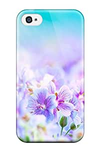 High Quality Shock Absorbing Case For Iphone 4/4s-flower S