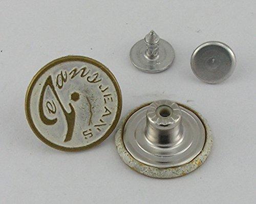 5 Stück Jeansknopf Nietenknöpfe Jeans Knöpfe 18mm 06.67