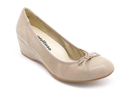 haute Melluso calage Decoltè 5 semelle dessus 5 en Chaussures cuir femmes cm caoutchouc 86q6n1wax