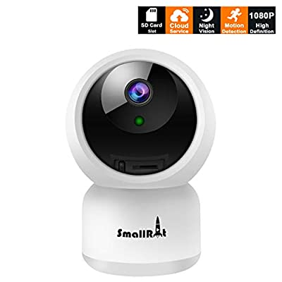 IP Dome Security Camera, WiFi Security Camera, 1080P HD Night Vision Two-Way Audio Remote Viewing Security Camera with Motion Detector for Home and Office Surveillance