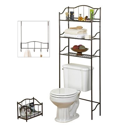 Creative Bath 3-Piece Complete Bath Set, Bronze