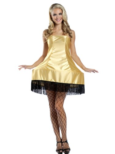 Leg Lamp Halloween Costumes (Sexy Legs Lamp Shade Costume Dress Gold Color Womens Theatrical Costume)