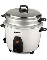 Cornell CRCCS102ST 1.0L Rice Cooker w/Steam Tray Silver