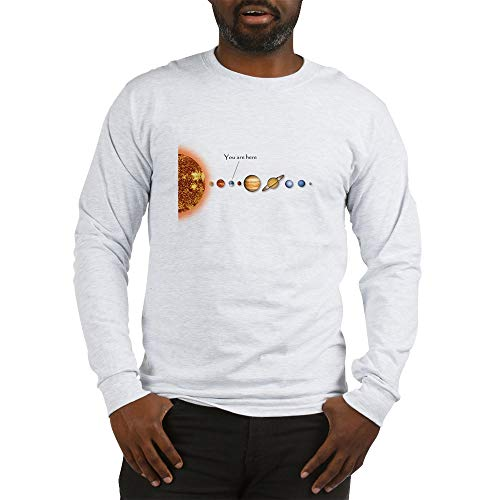 (CafePress You are Here Long Sleeve Unisex Cotton Long Sleeve T-Shirt Ash Grey )