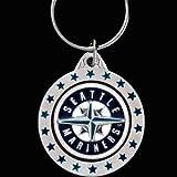 Pewter MLB Team Logo Key Ring - Seattle Mariners