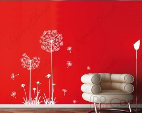Cheap  PopDecals - Dandelion - 39 in High - nursery wall decals tree..