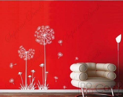 white dandelion wall decal - 1