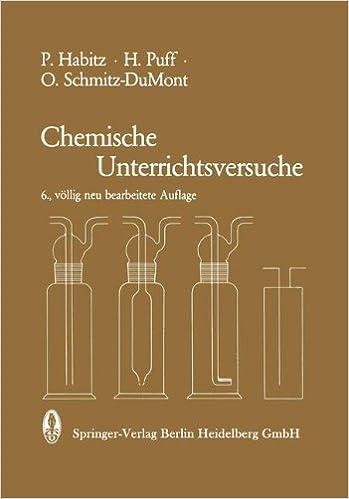 Book Chemische Unterrichtsversuche