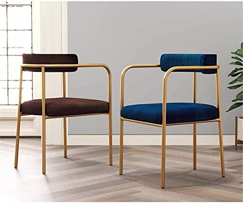 XGGYO Chaises de Restaurant Nordique, Chaises de Café Dossier Cadre Métal/Chaise Étude, Restaurant/Pub/Salon/Chambre/Bureau/Gray.
